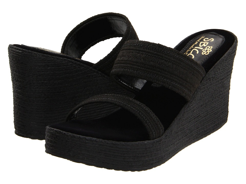 Sbicca Vibe (Black) Wedges