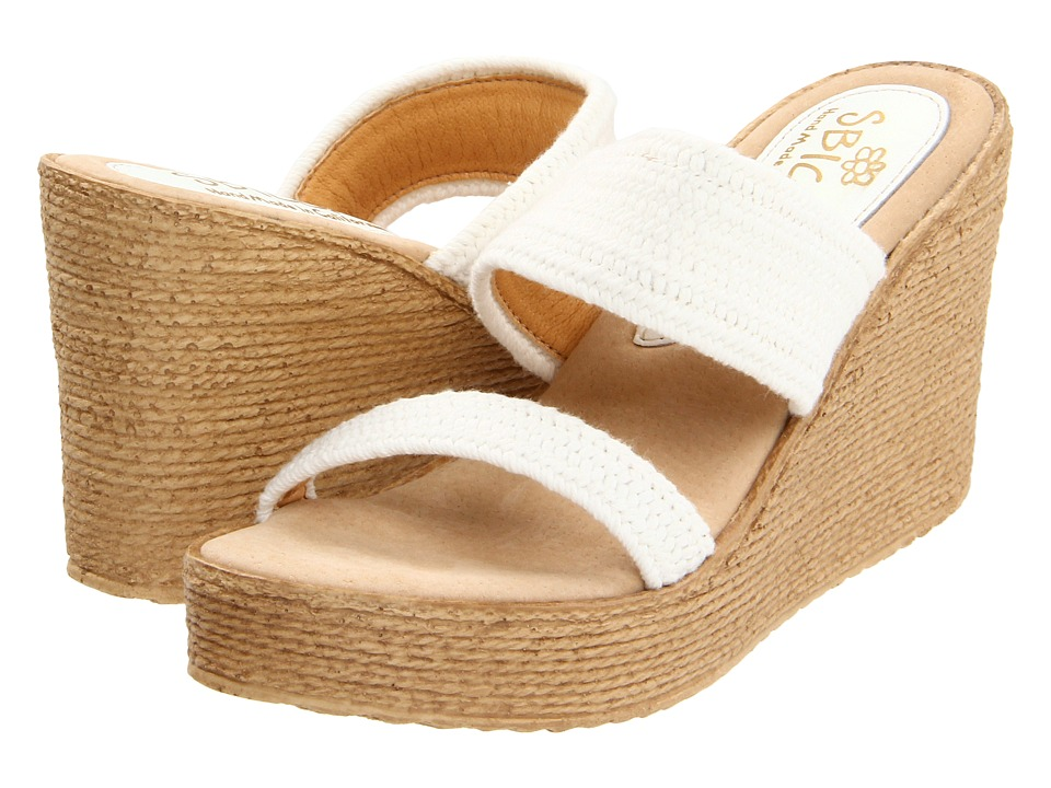 Sbicca Vibe (White) Wedges