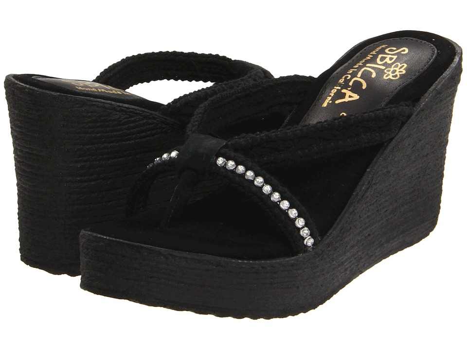 Sbicca Jewel (Black) Wedges