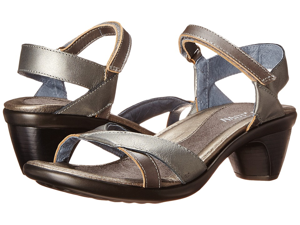 Naot Footwear Cheer (Sterling Leather/Mirror Leather) Sandals
