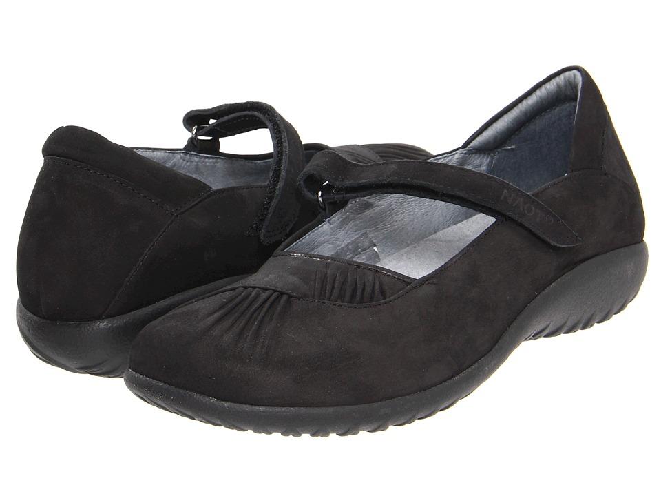 Naot Footwear - Taramoa (Black Velvet Nubuck) Women