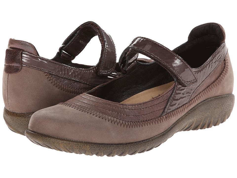 Shop Naot Footwear online and buy Naot Footwear Kirei Porcini Leather-Shiitake Nubuck-Shiitake Patent Leather Women's Maryjane Shoes online