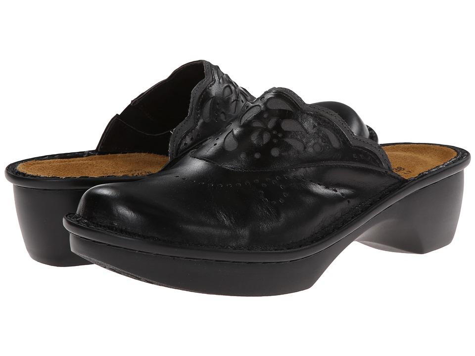 Naot Footwear - Havana (Black Madras Leather/Shadow Grey Nubuck) Women