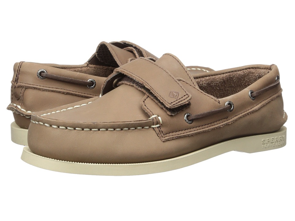 Sperry Top-Sider Kids A/O HL (Toddler/Little Kid) (Brown Leather) Kids Shoes