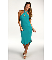 Halston Heritage - Rayon Matte Halter Twist Dress