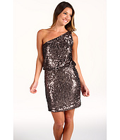 Halston Heritage - Sequins Jersey One Shoulder Dress
