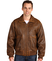 Scully - Men's Vintage Distressed Lamb Bomber Jacket