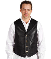 Scully - Men's Lambskin Lapel Vest with Silvertone Buffalo Head Buttons