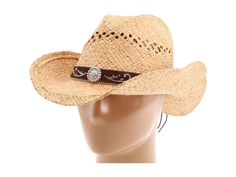 MampF Western 7109802 Raffia Cowboy Hats