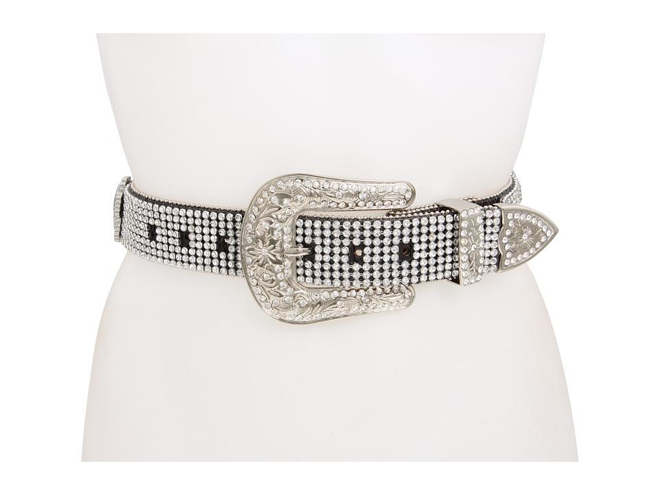 M&F Western - Crystal Cross Rhinestone (Black) Women's Belts