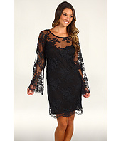 Nicole Miller - All Over Lace Bell Sleeve Dress