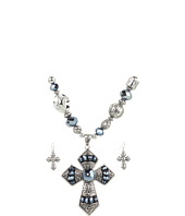Nocona - Beaded Cross Necklace/Earring Set
