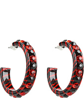 Nocona - Small Hoop Large Crystal Earrings