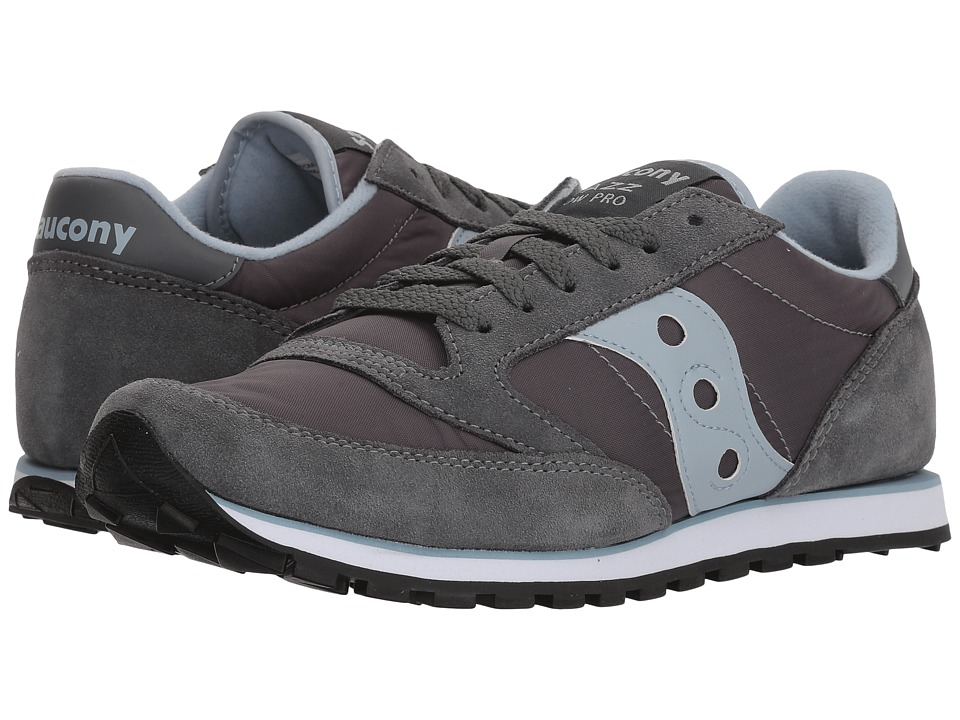 Saucony Originals - Jazz Low Pro (Grey/Blue) Womens Classic Shoes