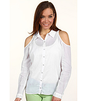 C&C California - Cutout Shoulder Ramie Top