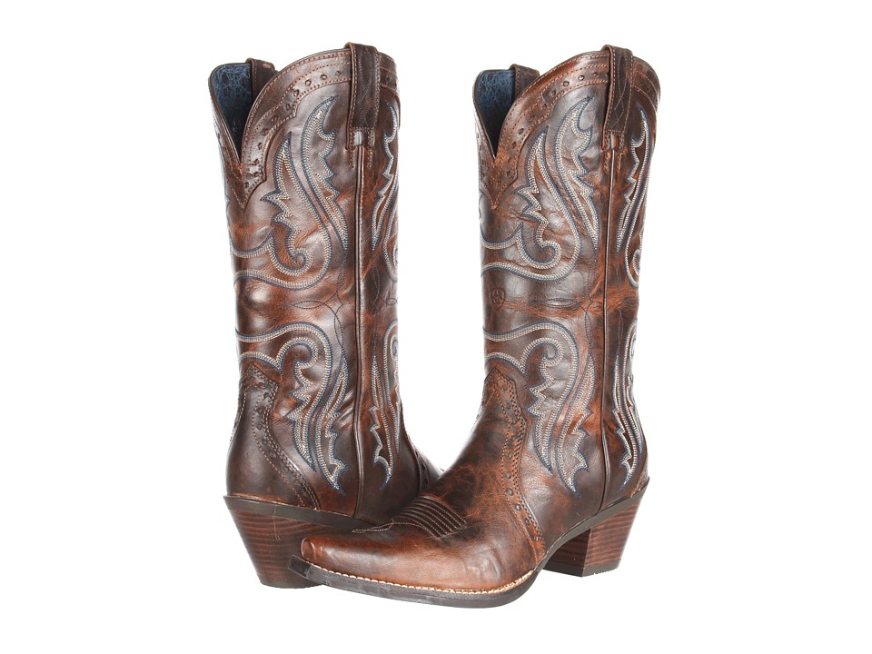 Ariat Heritage Western X-Toe (Sassy Brown) Cowboy Boots