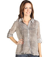 Kenneth Cole New York - Snakeskin Roll Up Blouse