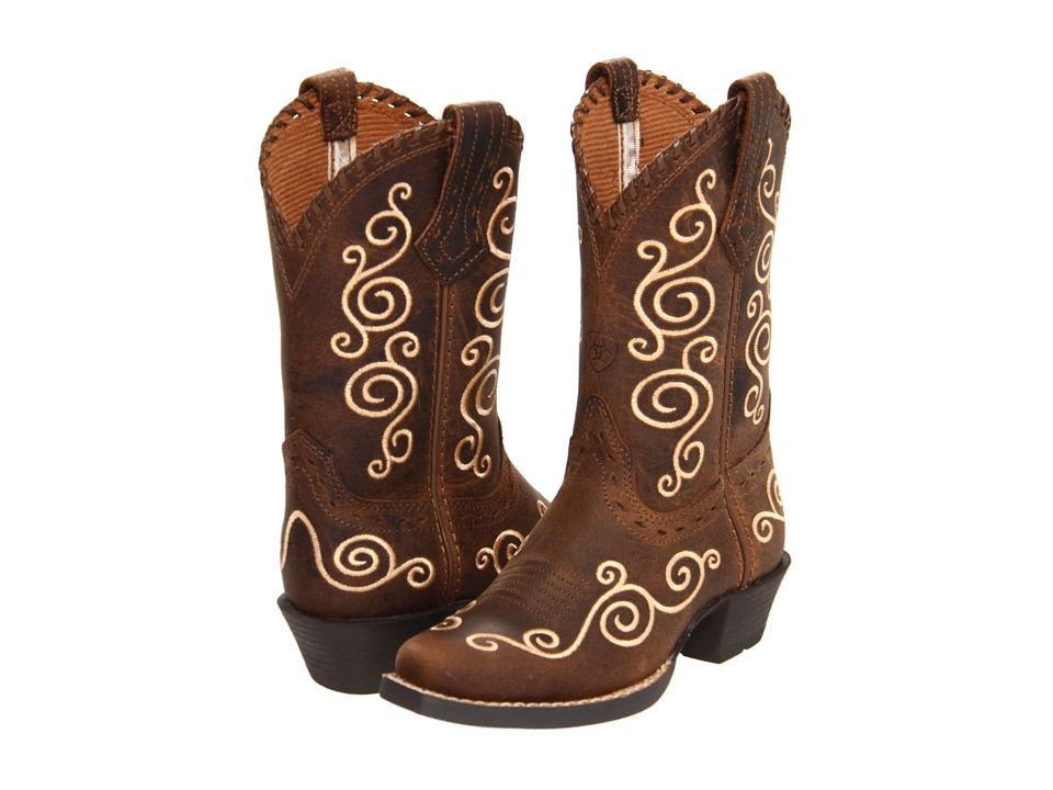 Ariat Kids - Shelleen (Toddler/Little Kid/Big Kid) (Distressed Brown) Cowboy Boots