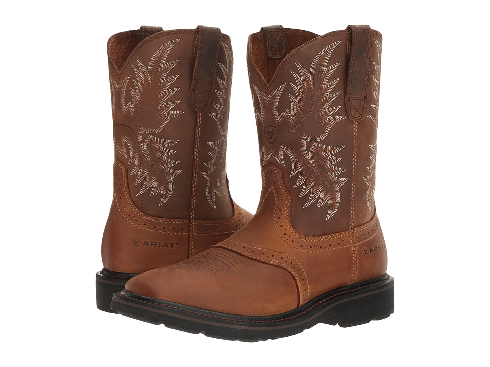 Ariat - Sierra Wide Square Toe (Aged Bark) Cowboy Boots