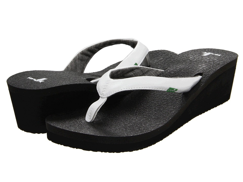 Sanuk Yoga Mat Wedge White Womens Sandals