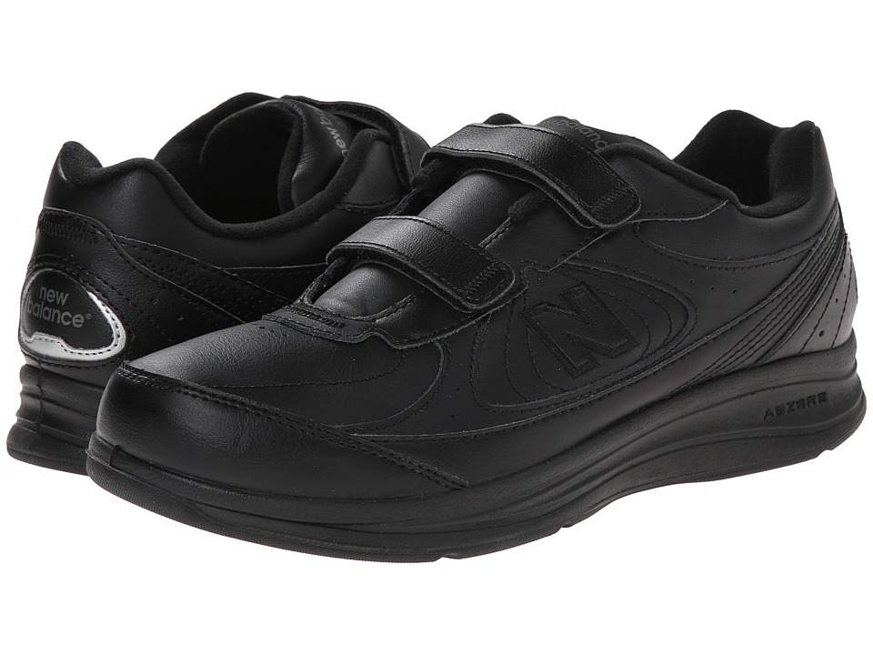 New Balance - MW577 Hook-and-Loop (Black) Mens Walking Shoes