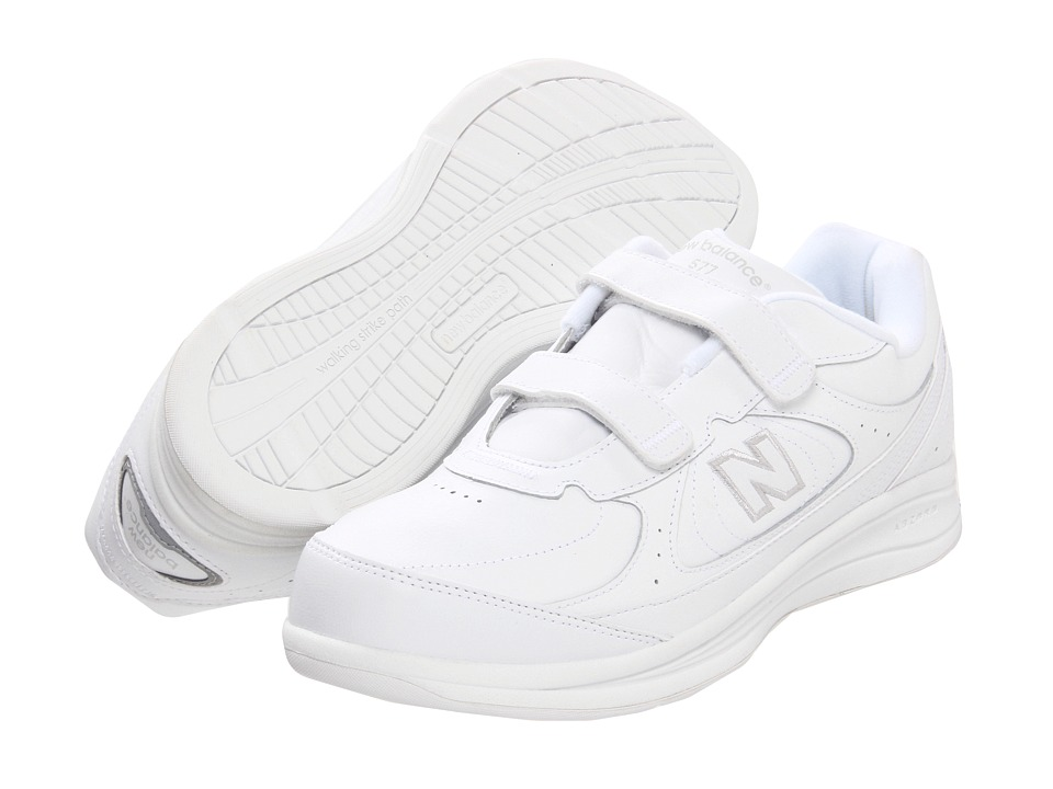New Balance - MW577 Hook-and-Loop (White/White) Men's Walking Shoes