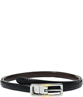LAUREN Ralph Lauren - Croc to Smooth Reversible Belt with Two-Tone Buckle