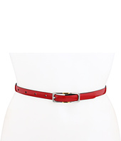 LAUREN Ralph Lauren - Croc to Patent Reversible Belt with Two-Tone Buckle