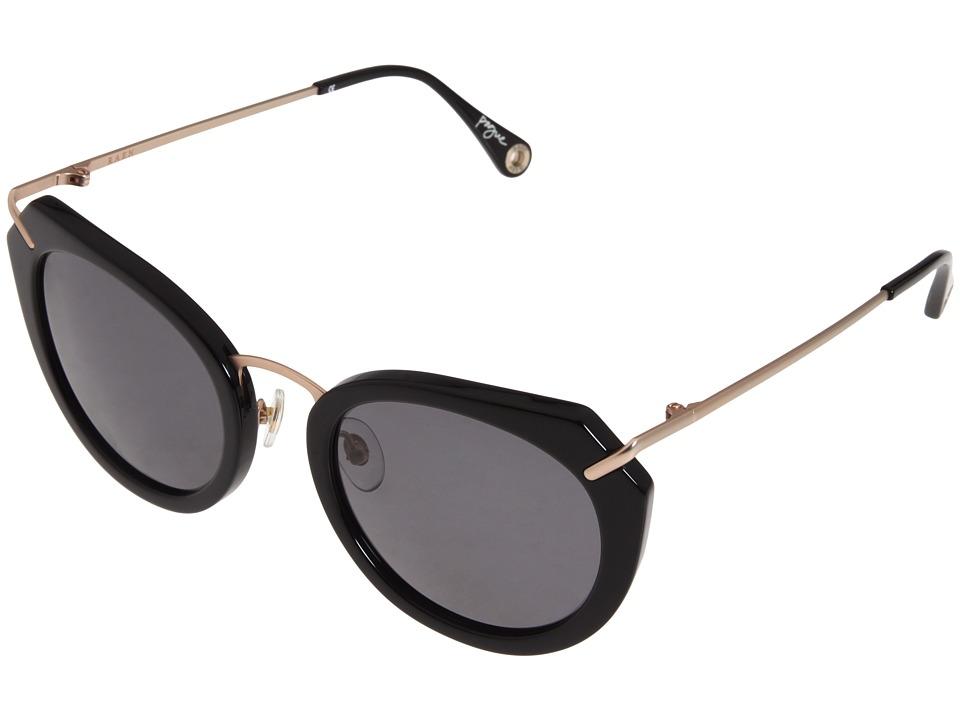 RAEN Optics Pogue Polarized Black Japanese Gold Sport Sunglasses