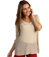 Kensie - Long Sleeve Crepe Sweater
