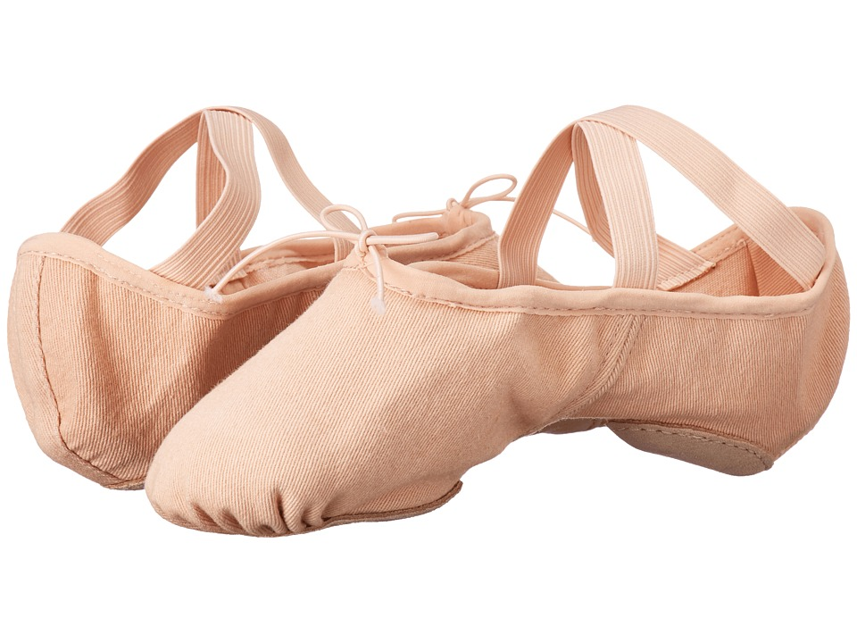 Bloch Zenith Stretch Canvas Split-Sole Ballet (Pink) Women's Dance Shoes