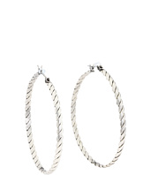 BCBGeneration - BCBGeneration Silver Twisted Hoop Core Earring