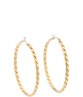 BCBGeneration - BCBGeneration Gold Twisted Hoop Core Earrings