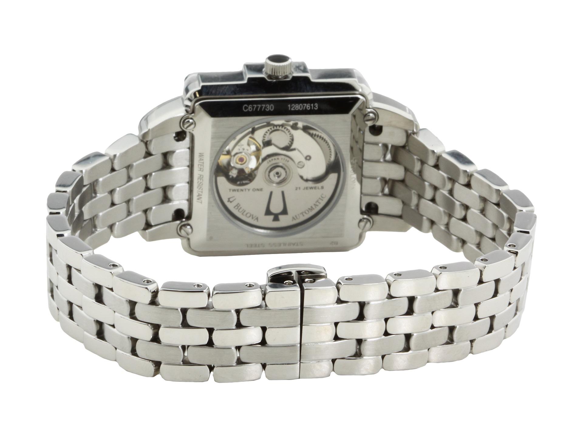 Bulova Ladies Mechanical 96r155 White, Watches