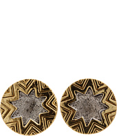 House of Harlow 1960 - Two-Tone Engraved Sunburst Stud
