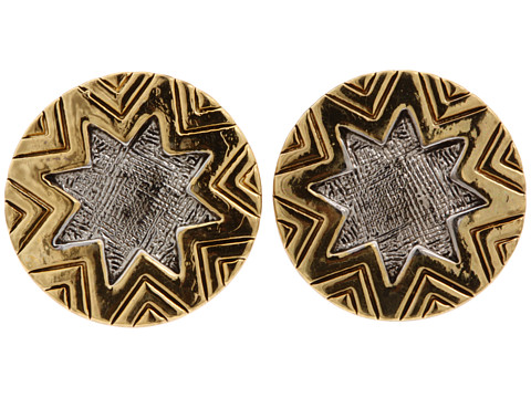 House of Harlow 1960 Two-Tone Engraved Sunburst Stud