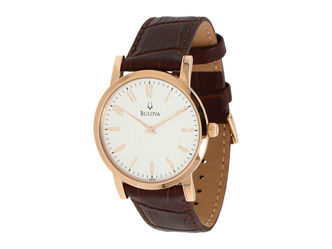 Bulova Mens Dress - 97A106 - Rose Gold/Brown