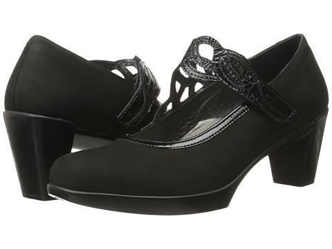 Naot Footwear Luma - Black Velvet Nubuck/Black Crinkle Patent Leather