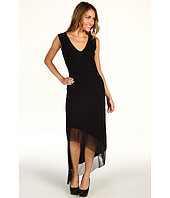 BCBGMAXAZRIA - Alisanne Asymmetrical Mesh Trim Dress