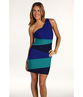 BCBGMAXAZRIA - Petite Kira One Shoulder Colorblock Dress