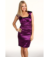 Jax - Hammered Satin Cap Sleeve Dress