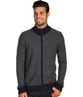 Michael Kors - Waffle Stitch Full Zip Sweater with Mock Neck