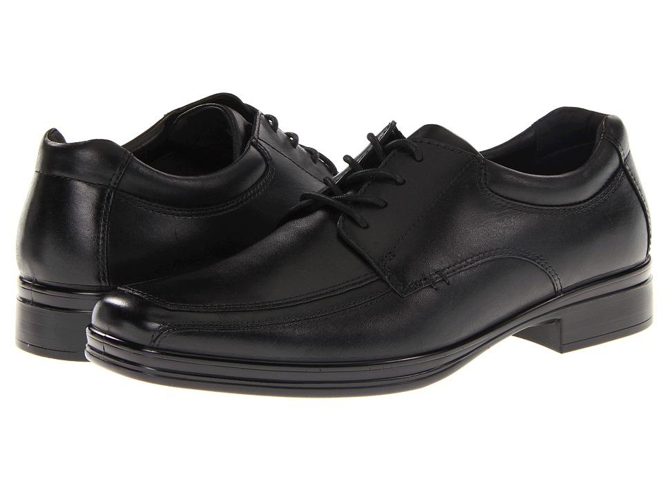 Hush Puppies Quatro Oxford BK Black Leather Mens Lace up casual Shoes