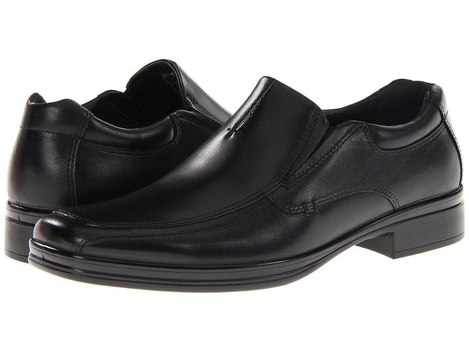 Hush Puppies Quatro Slip On BK Black Leather Mens Slip on Dress Shoes