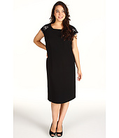 Tahari by ASL Plus - Plus Size Stanley Beaded Shoulder Dress