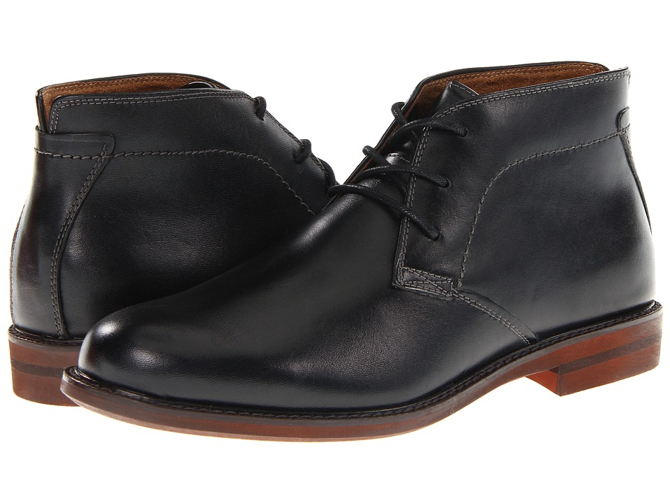 Florsheim Doon Chukka Boot (Black Smooth Leather) Men