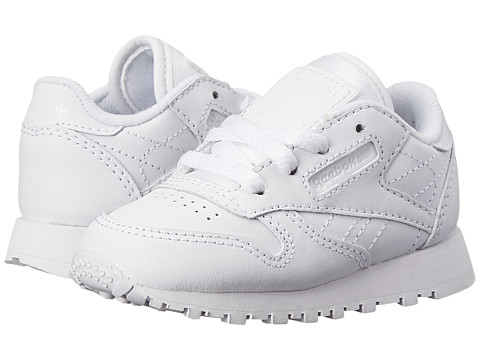 Reebok Kids Classic Leather (Infant/Toddler) - White/White/White