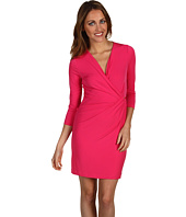 Calvin Klein - Petite 3/4 Sleeve V-Neck Dress
