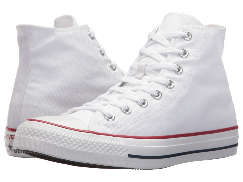 1960s Style Men's Clothing, 70s Men's Fashion Converse - Chuck Taylorr All Starr Core Hi Optical White Classic Shoes $54.99 AT vintagedancer.com