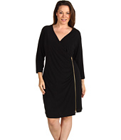 Calvin Klein - Plus Size Exposed Zipper Dress